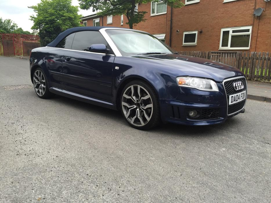 2004 04 audi a4 convertible 1 8 sport turbo rs4 rep smethwick wolverhampton mobile. Black Bedroom Furniture Sets. Home Design Ideas