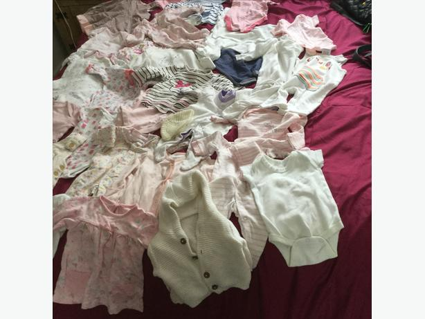 Job lot of girls baby clothes