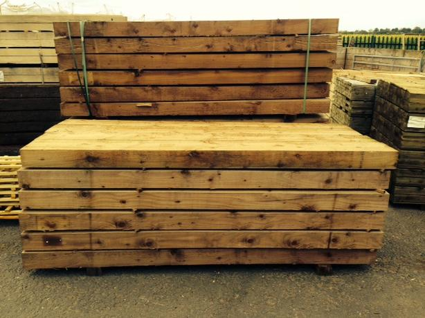 Railway Sleepers (NEW High Quality) 10x5 Thick 8ft Long Sleepers