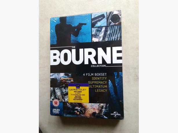 The Bourne Collection 4 Film Boxset. Includes a copy to download