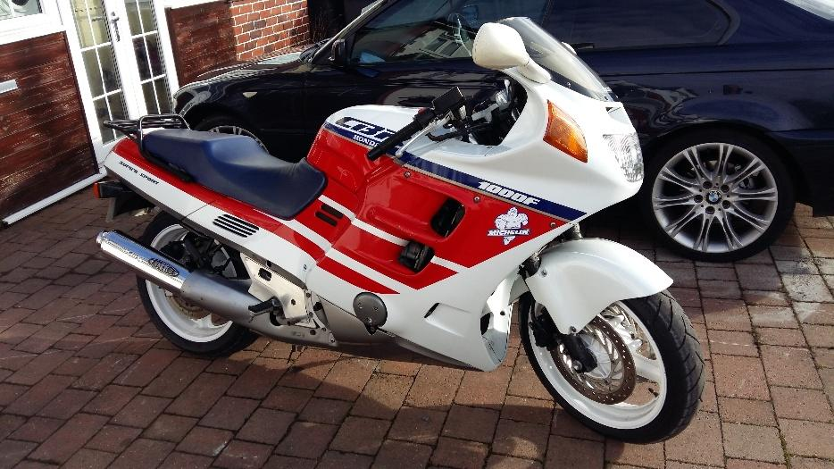 Honda Cbr1000f Swap For Naked Bike Outside Black Country