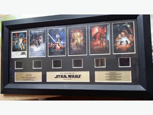 Star Wars framed 6 cilled collectable picture