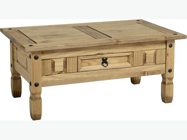 corona real wood coffee table