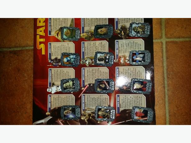 Star Wars Collectable Metal Badges in folder