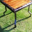 Handmade Oak, Stinkwood and Steel Coffee Table