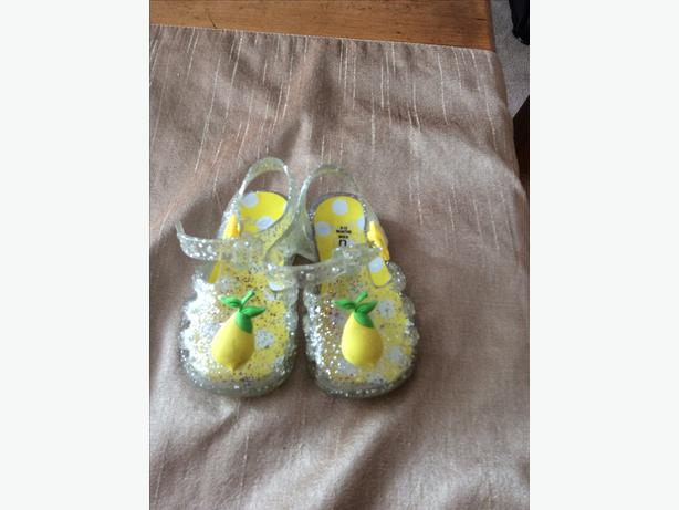 Girls Next branded jelly shoes size 6-12 months