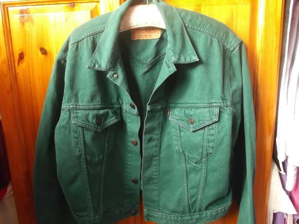 8a921105ea7 Vintage Levis Green Denim Jacket DUDLEY