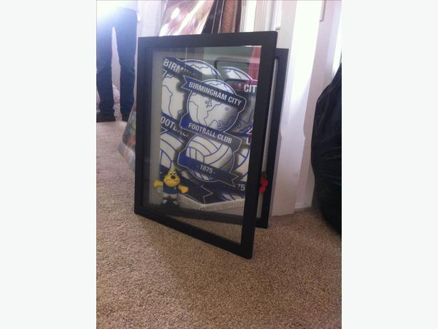 Birmingham City boxed picture frame