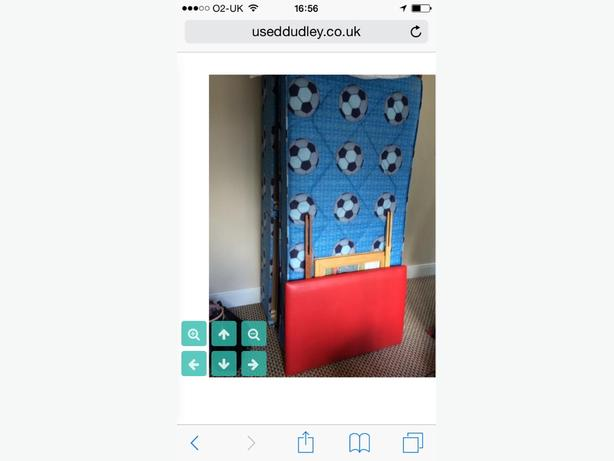 FREE-single boys football bed