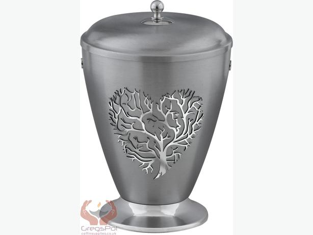 Beautifu Metal Cremation Urn for Ashes,Funeral Urn for Adult (Heart)
