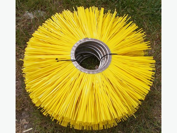 9x Road Sweeper Brush Section Plastic Yellow
