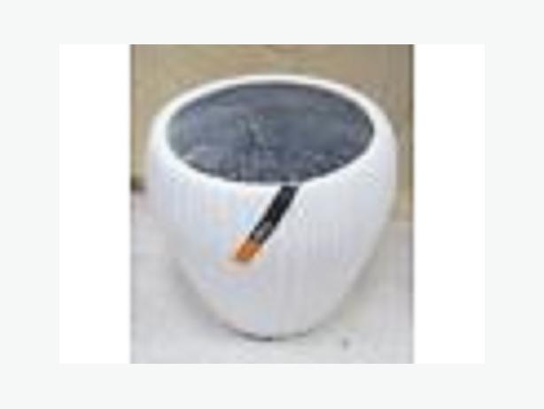 White Decorative Flower Pot 36 x 37cm