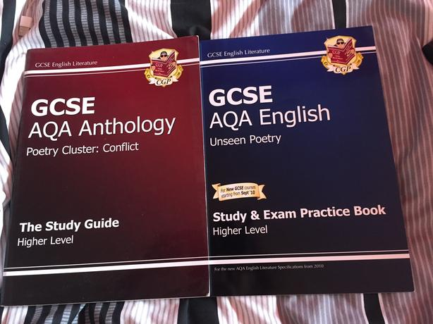 GCSE AQA ANTHOLOGY BOOK (red one- blue one has been sold)