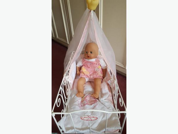 Baby Annabel and cot