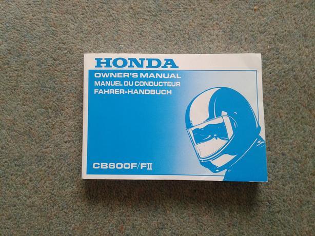Honda CB600F/F2 Owners Manual.
