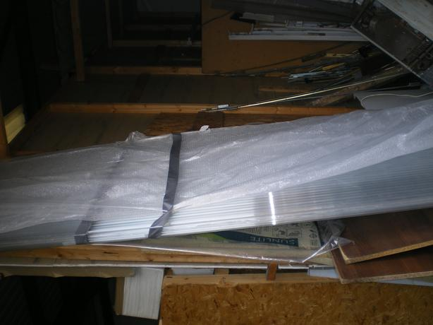 2 NEW POLYCARB ROOFING  SHEETS 3M LONG 900MM WIDE  25MM THICKNESS
