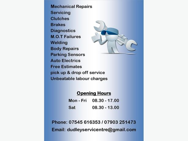 **Dudley Service Centre Auto Repairs**