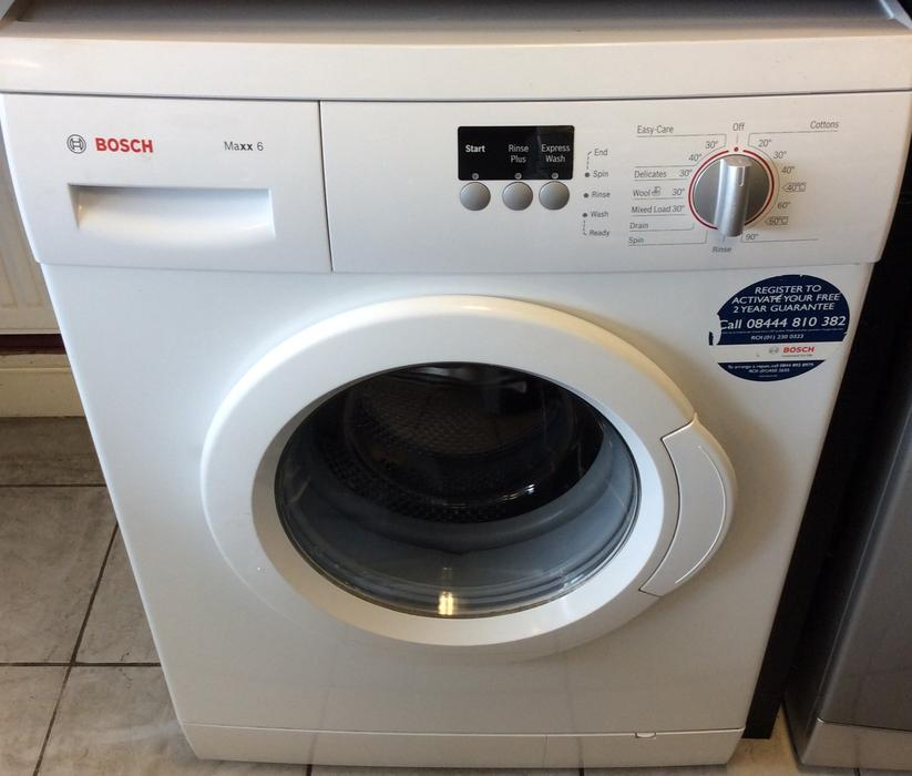 bosch maxx 6 washing machine with warranty outside black. Black Bedroom Furniture Sets. Home Design Ideas