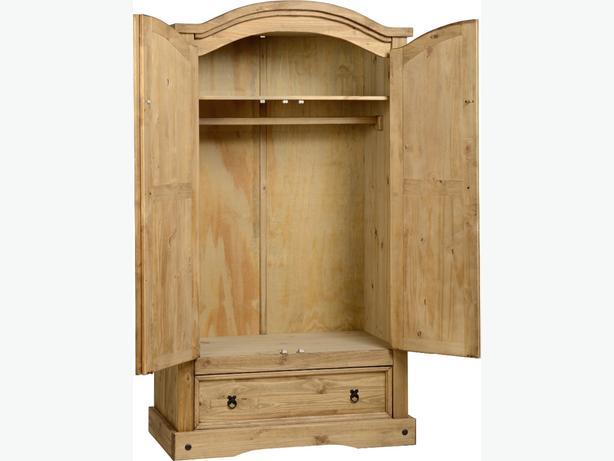 corona 2 door 1 drawer wardrobe