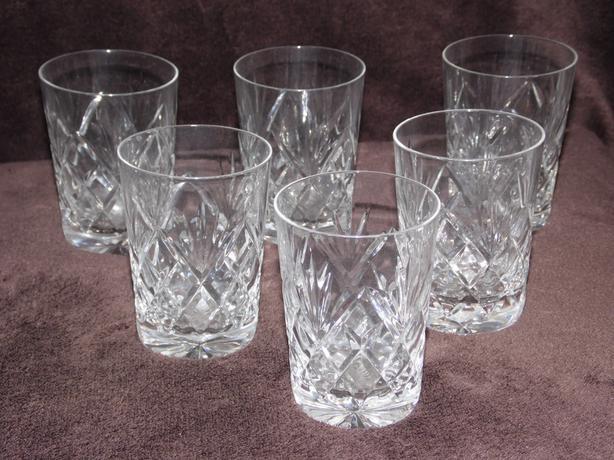 6 Cut Glasses (& Bell)
