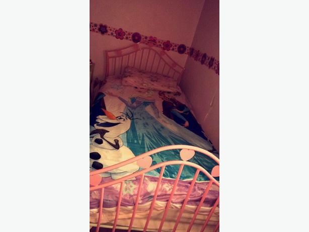 pink heart shaped bed