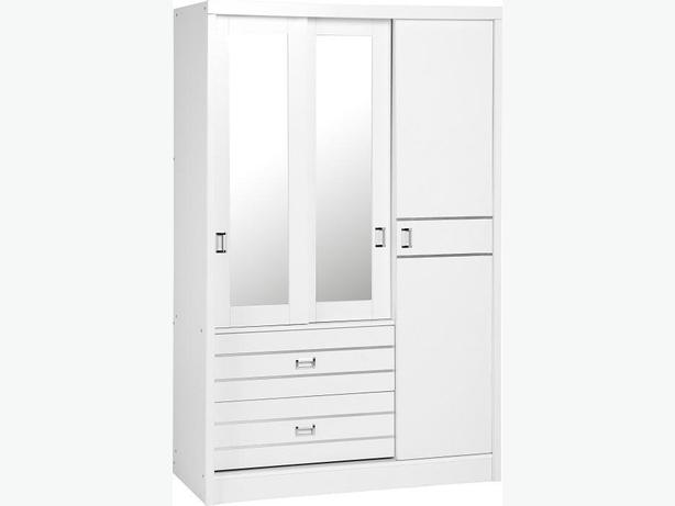 JORDAN 3 door 2 drawer sliding mirrored wardrobe