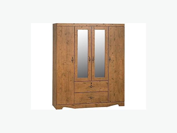 CAIRO 4 DOOR 2 DRAWER MIRRORED WARDROBE