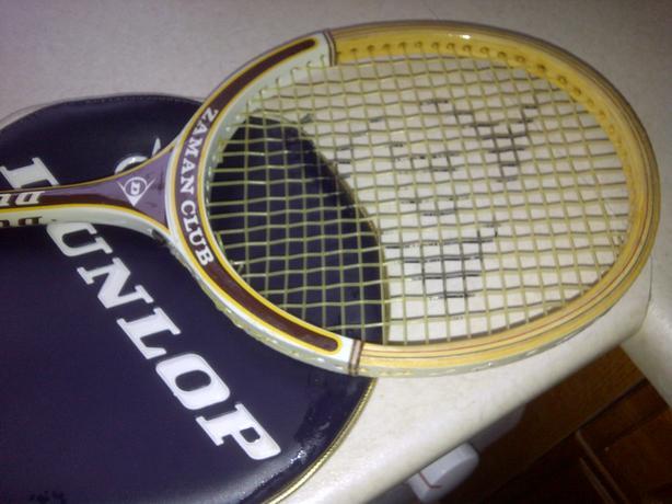 Vintage Dunlop ZAMAN CLUB Wooden Sqaush Racket