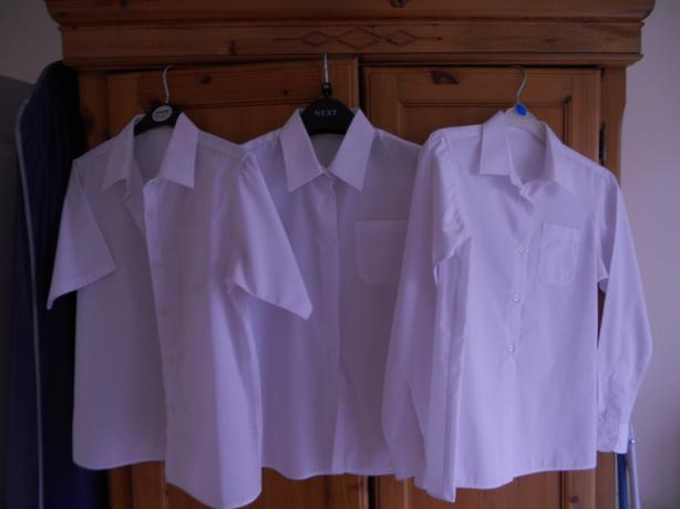 Girls School Uniform 3 shirts 3 skirts