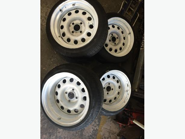 14 Quot Banded Steel Wheels Vw G60 Staggered 4 X 100 With