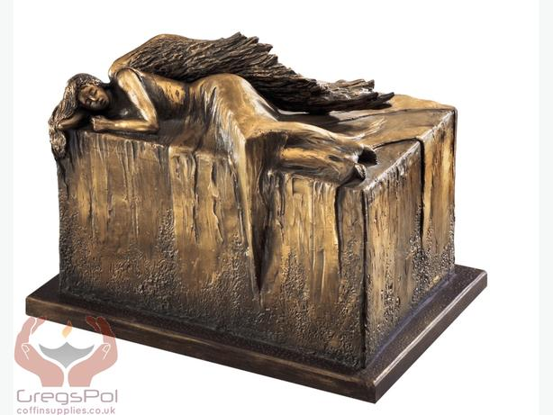 Unique Artistic Urn Angel at Rest Cremation Urn for Ashes