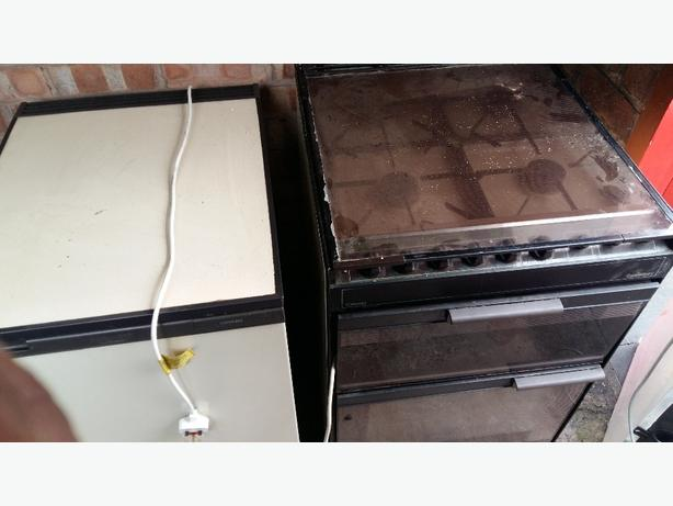 Gas cooker & matching fridge