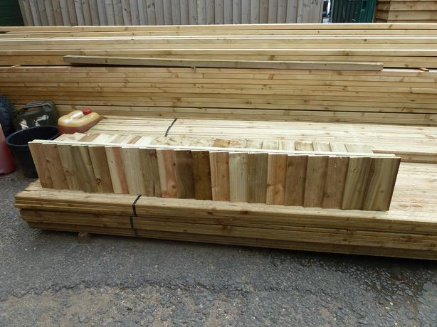 Heavy Duty 6x1 Wooden Feather Edge Gravel Board / Kick Board Panel (Treated)