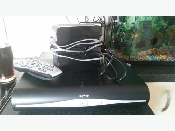 sky hd box and modem