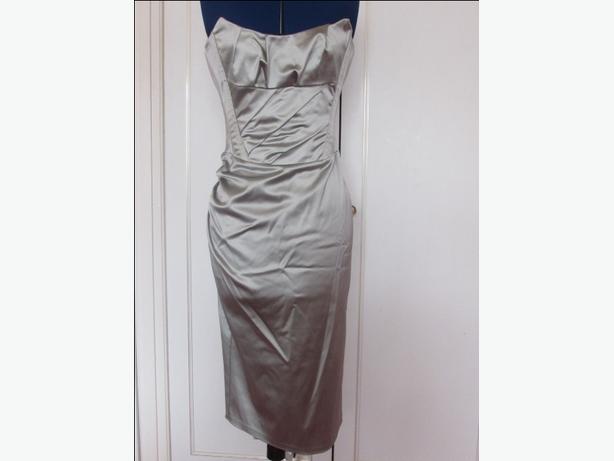 KOOKAI MINT GREEN SATIN EFFECT CORSET DRESS SIZE 10 BRAND NEW