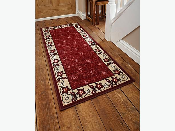 Flair Rugs Border Design Runner And Doormat Maroon CN322