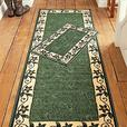 Flair Rugs Matrix Runner And DoorMat Leaf Border Green