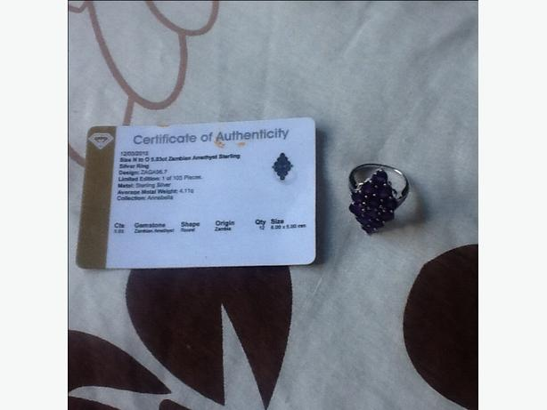 Zambian amethyst ring