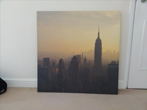 New York Picture on box canvas
