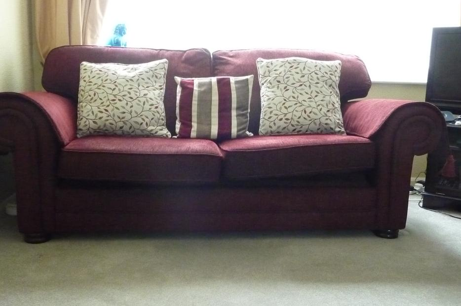 Hand made bed setee sofa bed 3 seater four cushions for Sofa bed 3 seater uk