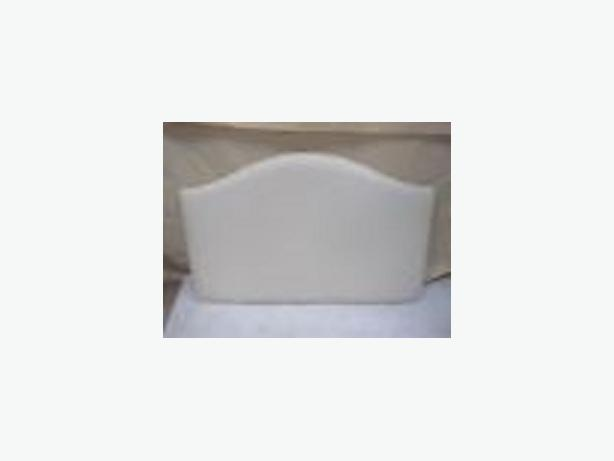 3ft Single HeadBoard Cream Faux Leather - Seetall Lardo