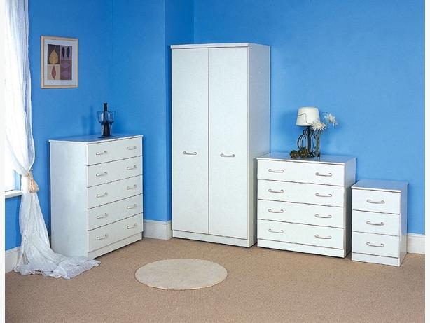 """2 DOOR 30"""" wardrobe ANY COLOUR - white/black/beech/maple/cream etc"""