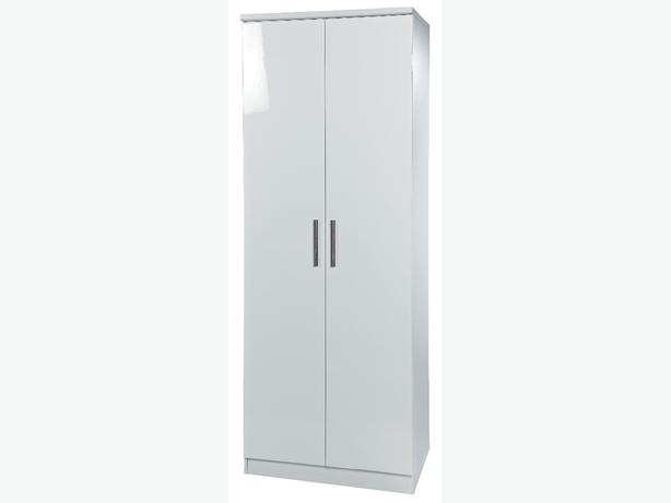 "2 DOOR SINGLE 24"" WARDROBE - any colour white or black etc"