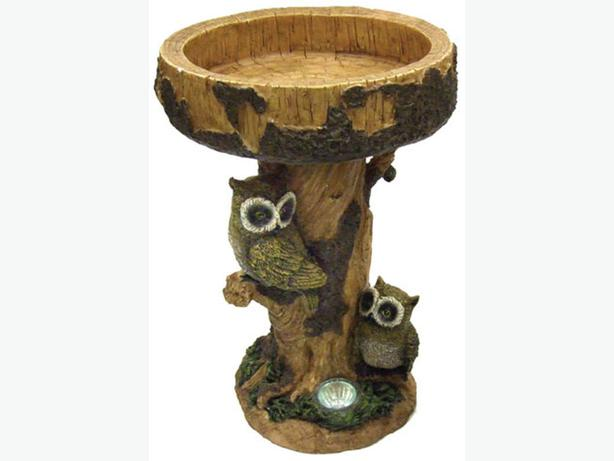 GardenWize Solar Owl Bird Table 26x26x40cm SWGSL118