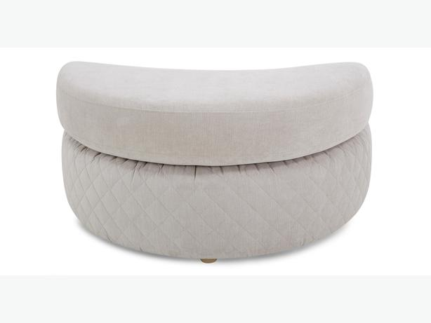 NEW silver eleanor half moon footstool from DFS