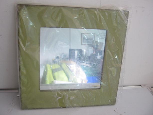 John Lewis Sqaure Mirror Green 40 x 40cm