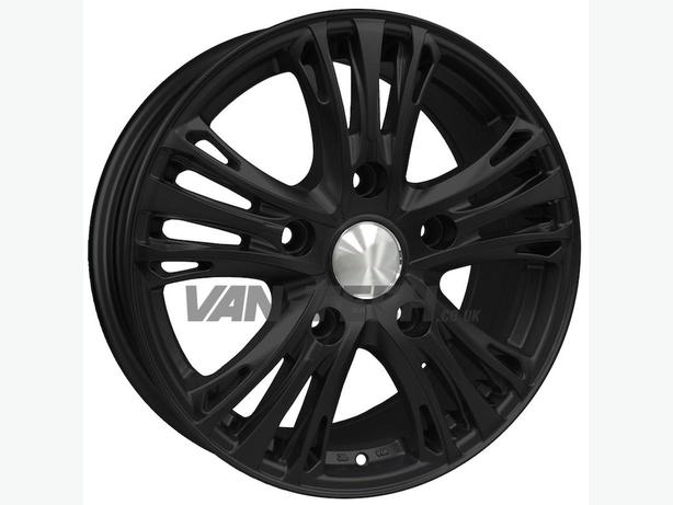 "18"" Calibre Odyssey Alloy Wheels Matte Black to fit Ford Transit Van"