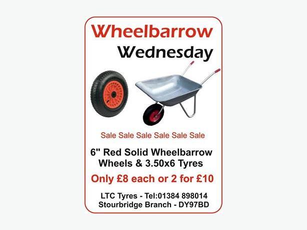Wheel Barrow wheels  3.50x6 for Sale great price!
