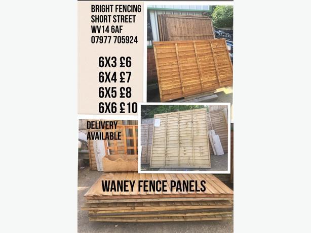 FENCE PANELS 6x3 £6 6x4 £7 6x5 £8 6x6 £10 brand new slight imperfections