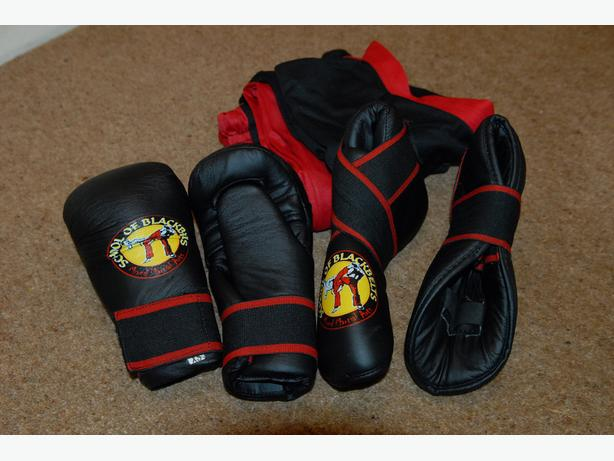 SCHOOL OF BLACKBELT (NINGERS) GLOVES, SHOES AND UNIFORM